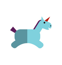 flat magical unicorn vector image