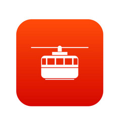 Funicular icon digital red vector