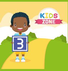 girl boy kids zone vector image