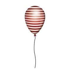 Globe striped white and red with cord vector