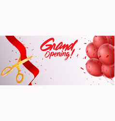grand opening ceremony vector image