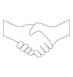 Handshake between two people entering into vector