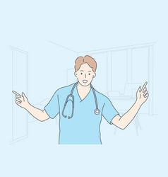 Healthcare medicine doctor concept vector