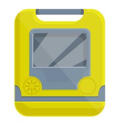 Hospital defibrillator icon cartoon style vector
