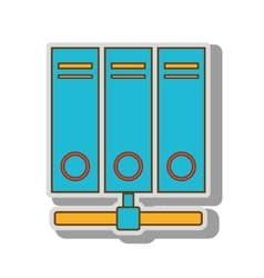 hosting server web vector image