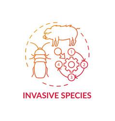 Invasive species red gradient concept icon vector