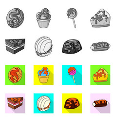 isolated object of confectionery and culinary icon vector image