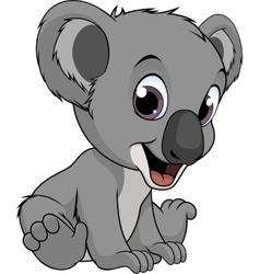 Little funny bear koala vector image