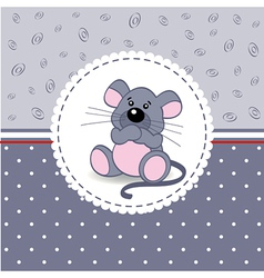 Little mouse baby vector