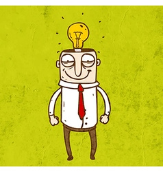 Man with a Bright Idea Cartoon vector image