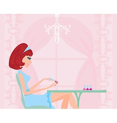 manicure lady vector image