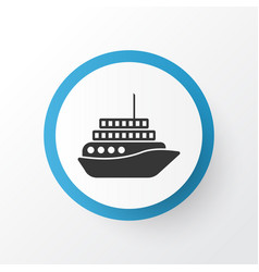motorboat icon symbol premium quality isolated vector image