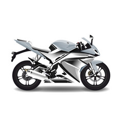 motorcycle steel sport bike vector image
