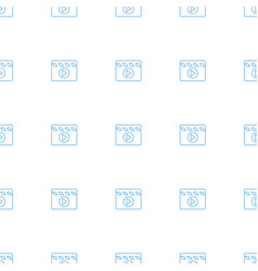 Movie clapper icon pattern seamless white vector