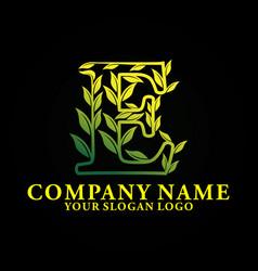 nature letter e vector image