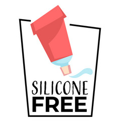 no silicone label isolated icon organic product vector image