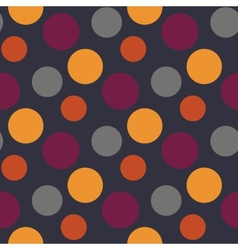 Pattern with polka yellowgreypurple dots vector image