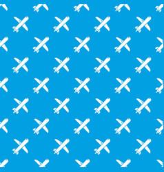 plane pattern seamless blue vector image