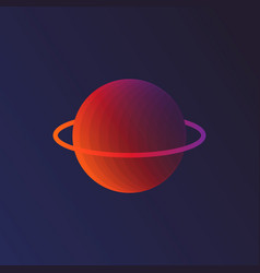 planet saturn with planetary ring system vector image