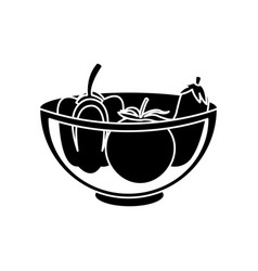 Plate with vegetables icon image vector