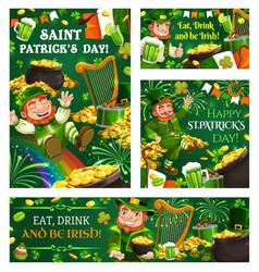 Pranks and tricks leprechaun st patricks day vector