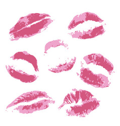 print of volume pink lips vector image