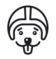racer dog logo vector image