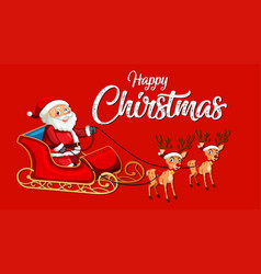 red happy christmas template vector image