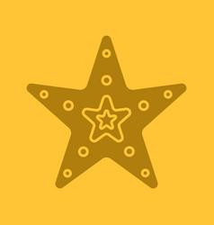 Sea star glyph color icon vector