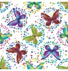 Seamless background butterflies vector image