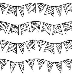 Seamless doodles garlands pattern vector