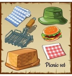 Set for weekend picnic vector