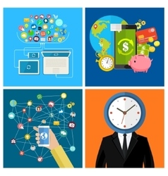 Set of business concepts vector image