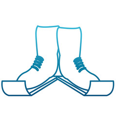 ski boots sport equipment vector image