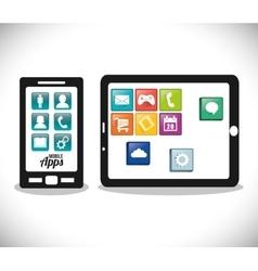 Smartphone tablet mobile apps design vector