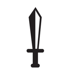 sword icon design vector image