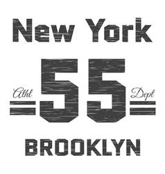 T shirt typography graphic New York Brooklyn vector