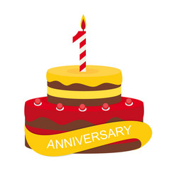 template 1 years anniversary congratulations vector image