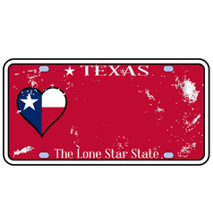texas state license plate with damage vector image