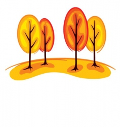 trees in autumn vector image