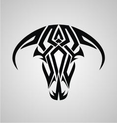 Tribal Bulls Head vector image