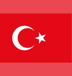Turkey flag national flag vector