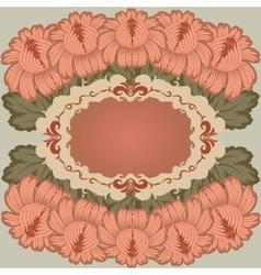 vintage floral design vector image