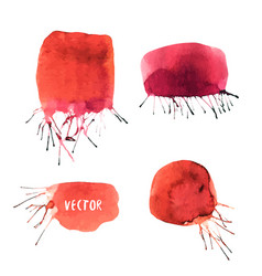 watercolor collection of banners painted blots vector image