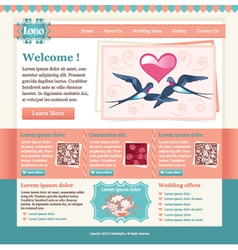 wedding site template vector image