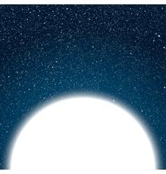 White Circle Dark blue sky Starry night sky vector