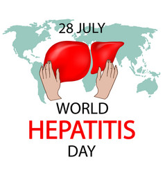 World hepatitis day concept vector