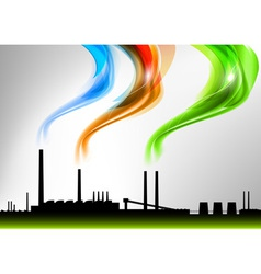 factory white curve rainbow vector image