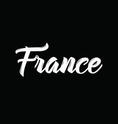 France text design calligraphy vector