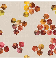 Geometric pattern of hexagons and triangles vector image vector image
